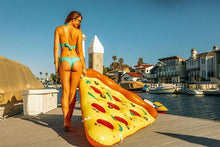 huge inflatable pizza float