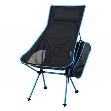 light blue ultra lightweight camping hiking beach park backyard foldable compact portable chair seat