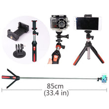 wireless long selfie stick tripod iphone samsung ios android gopro dlsr