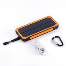 orange portable solar panel power pack usb rechargeable phone tablet