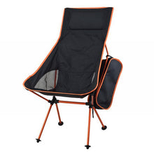 orange ultra lightweight camping hiking beach park backyard foldable compact portable chair seat