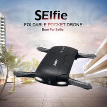 folding pocket selfie drone with hd camera