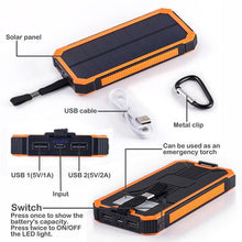 portable solar panel power pack usb rechargeable iphone ipad