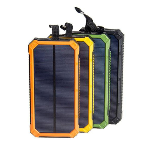 portable solar panel power pack usb rechargeable with LED light