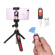 orange wireless metal selfie stick tripod iphone samsung ios android gopro dlsr