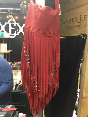 Santa Fe beaded fringe purse