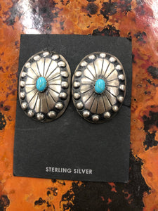 The Heathered striking silver earrings