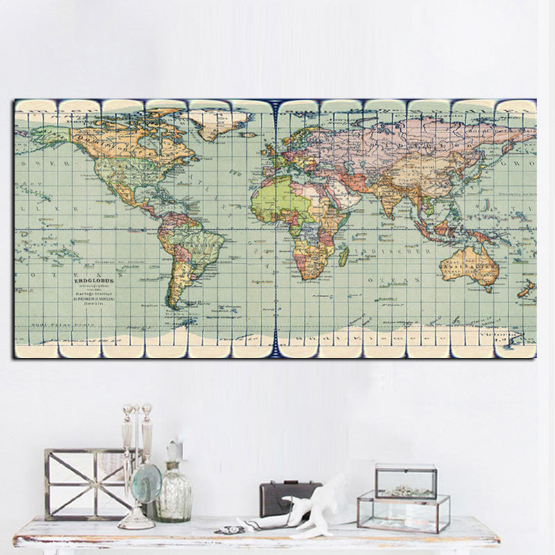 Vintage earth world map canvas lowai vintage earth world map canvas gumiabroncs Choice Image