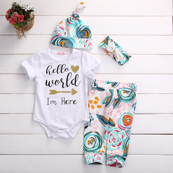 Toddler Newborn Baby Girls Romper T-shirt+ Lace Pants Dress Outfits Clothes Lot