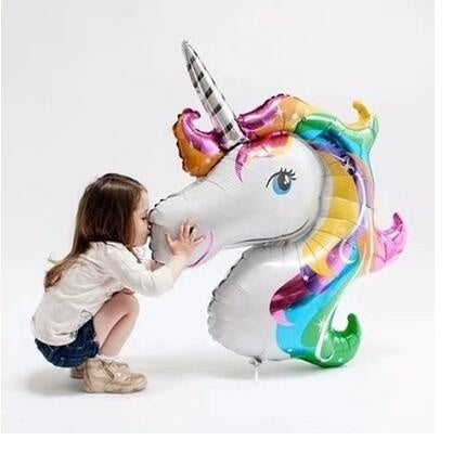 Large Balloons Happy Birthday Fly Horse Large Toys Inflatable Animal Foil Balloons Unicorn Party Decoration Supplies Size 87*117cm
