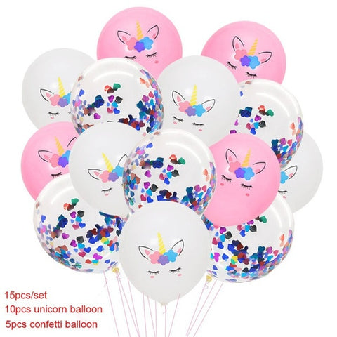 15pcs Unicorn Balloon Unicorn Party Decoration Air Baloons Unicorn Birthday Party Baloons Kids Favors Ballons
