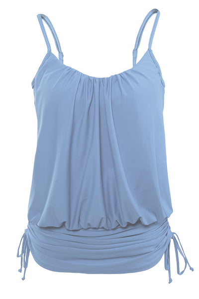 Light Blue Spaghetti Strap Tankini Swim Top