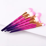 7/10pcs Unicorn diamond Makeup Brushes Set Powder Eyeshadow Brush Facial Foundation Cosmetic Makeup Brush Kit