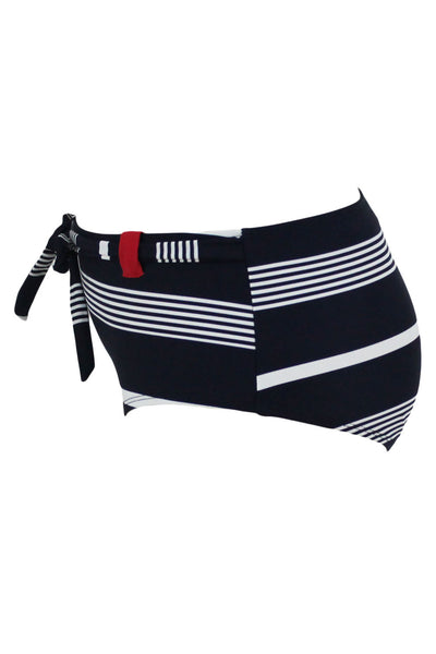 Navy Striped Bow Tie Sash Swim Briefs