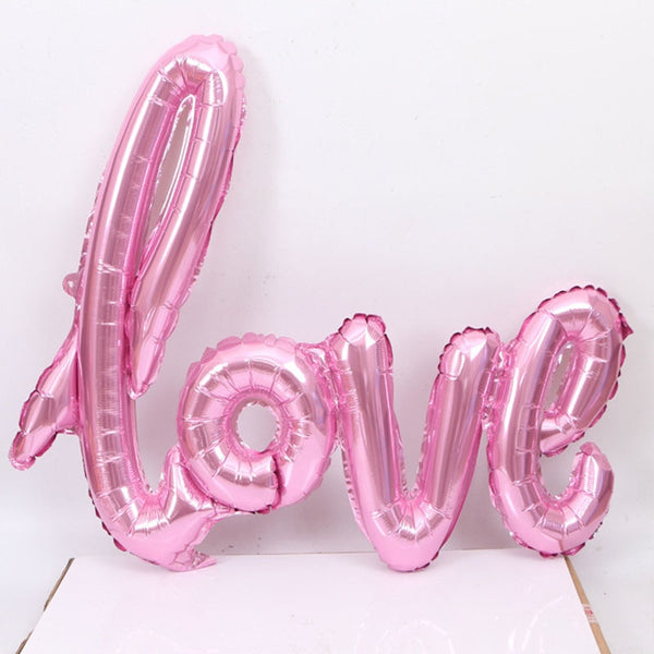 LOVE Letter Foil Balloon Heart Anniversary Wedding Valentines Balloons Heart For Birthday Party Decoration Cup Photo Props XNS6