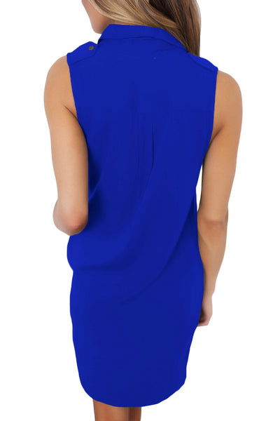 Royal Blue Button Down Tunic