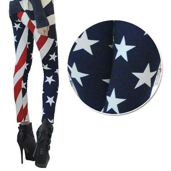 2017 New Arrival Women American Flag High Waist Sports Gym Yoga Legging Running Pants Workout Clothes #E0