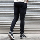 Trendy Men's Skinny Jeans Biker Destroyed Frayed Slim Fit Denim Ripped Pants New