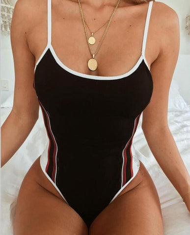 Women One-Piece Swimsuit Bandage Bikini Push-up Padded Bathing Monokini Swimwear