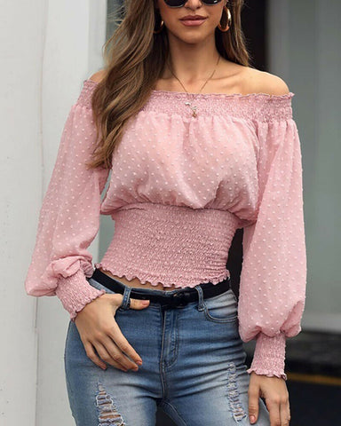 Women's Sexy Off Shoulder Holiday Loose Tops Summer Casual Baggy T Shirt Blouse