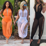 Womens Ladies Clubwear V Neck Playsuit Bodycon Party Jumpsuit Romper Trousers US