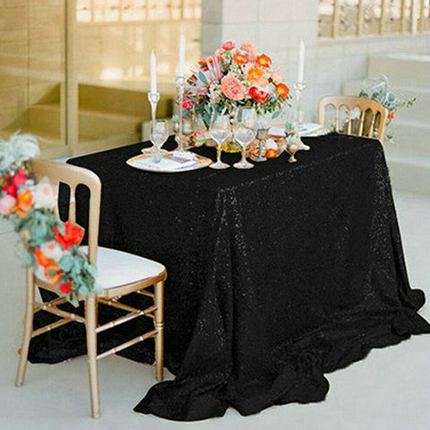 USA Round Sequin Tablecloths Table Cloth Cover Wedding Event Party Tableware