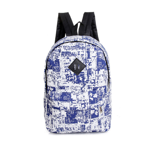 Women Men Canvas School Backpack Travel Hiking Rucksack Shoulder Bookbag Satchels