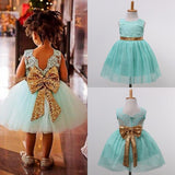 Flower Girl Kids Sequins Princess Party Wedding Formal Tutu Dress USA Stock