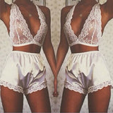 US Women's Lingerie Babydoll Sleepwear Underwear Lace Dress G-string Nightwear