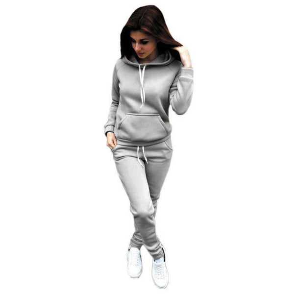 Women Hoodies Sports Tops Pants Tracksuit Sweatshirt Sweat Suit Jogging Set USA