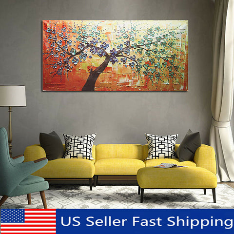 Modern HD Abstract Oil Painting Print Canvas Picture Tree Wall Art Decor