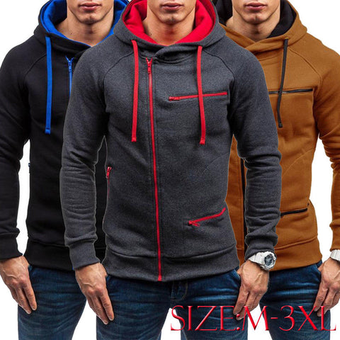 Men's Winter Sweatshirt Hoodies Casual Jacket Outwear Sweater Hoodies Coat