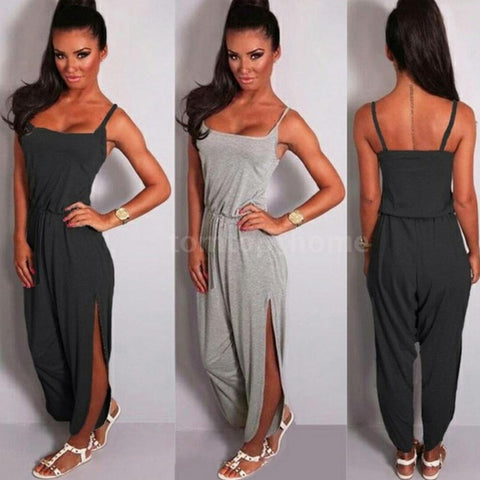Women Summer Beach Fashion Casual Sexy Sleeveless Romper Strapless Jumpsuit I2S3