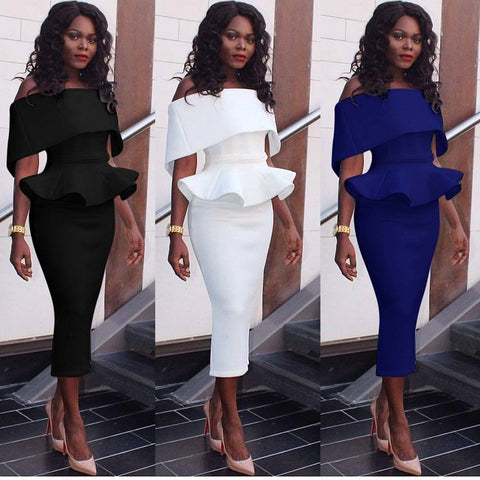 Elegant Women's Bodycon Slim Business Party Evening Cocktail Midi Pencil Dress