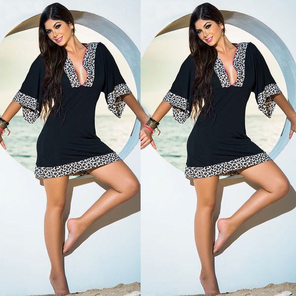 US STOCK Women Summer Beach Dress Casual Evening Party Short Mini Boho Dress