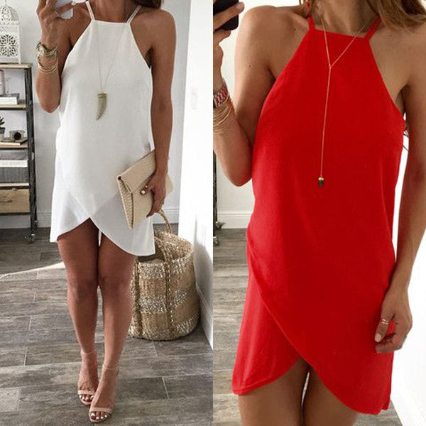 Sexy Women Summer Casual Sleeveless Evening Party Club Cocktail Short Mini Dress
