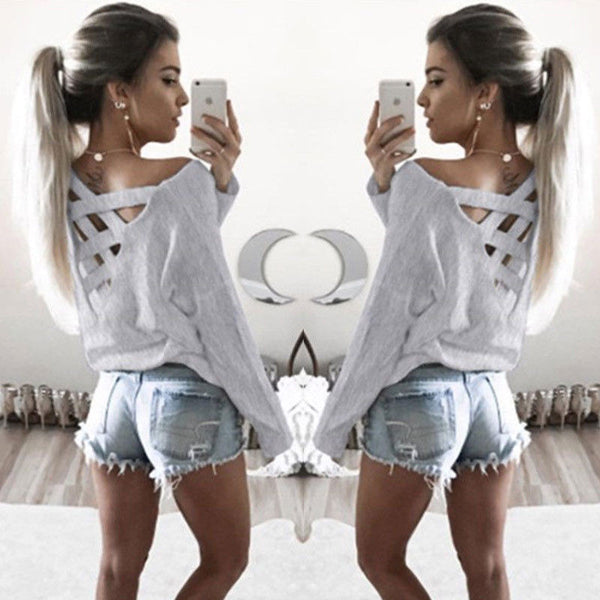 US STOCK Fashion Women's Summer Loose Tops Long Sleeve Blouse Ladies Casual Tops