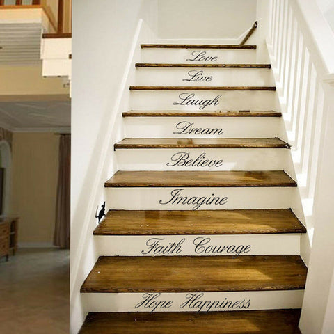 Stairs Decors Wall Art Quote Removable Stickers Vinyl Decals Home Decor US STOCK