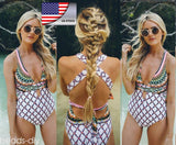 USA Women's One Piece Monokini Push Up Padded Bikini Swimsuit Swimwear Bathing