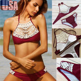 Women one piece Swimwear Swimsuit Monokini Push Up Padded Bikini Bathing Bandage