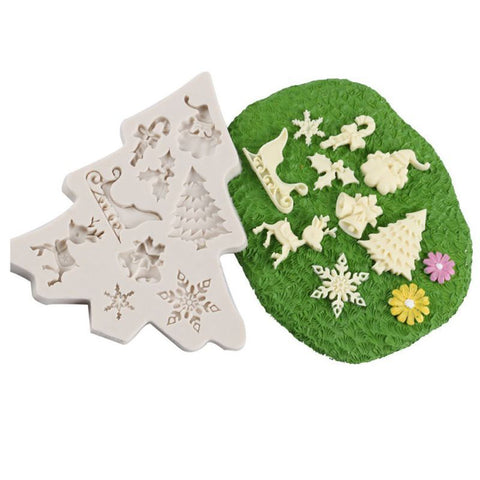 3D Silicone Mold Snowflake Fondant Christmas Cake Candy Baking Decor Diy Tool