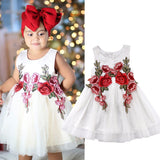 Princess Kids Baby Girls Dress Flower Party Dress Bridesmaid Dresses Clothes