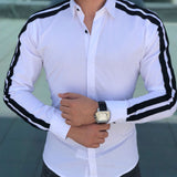 US New Men Fashion Luxury Casual Stylish Slim Fit Long Sleeve Dress Shirts