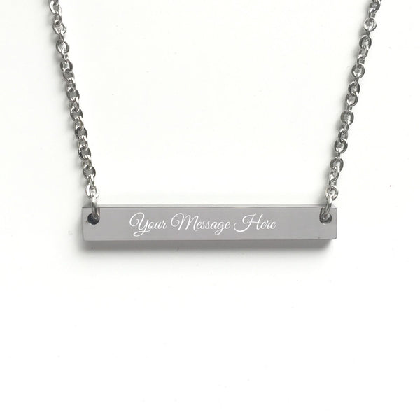 Personalized Custom Free Engraved Name Bar Necklace