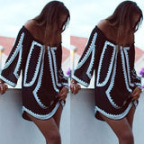 Women Summer Casual Long Sleeve Evening Party Cocktail Beach Short Mini Dress US