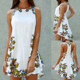 Women SummerDress Printed Casual Sleeveless Party Cocktail Beach Short MiniDress