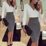 Women Formal Business Dress OL Work Stretch Cocktail Evening Slim Pencil Dresses