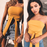 Women Sleeveless Casual Loose Blouse Off Shoulder Crop Tops T-Shirt US STOCK