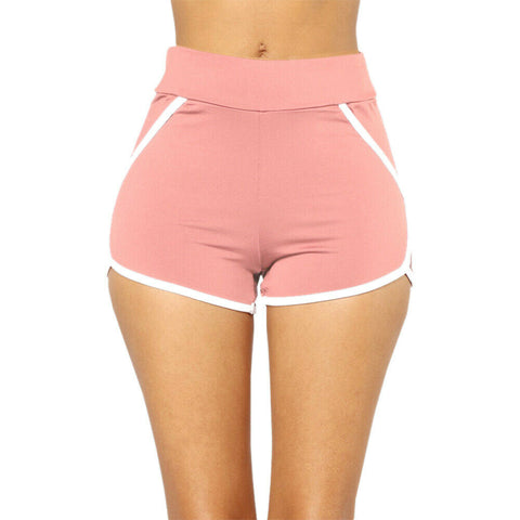 Summer Women Sports Shorts Gym Workout Casual Pants Waistband Skinny Yoga Short