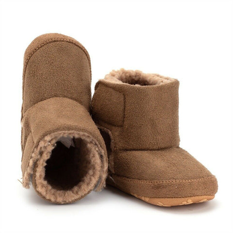 Newborn Baby Girls Boy Warm Winter First Walker Soft Sole Boots Shoes 0-18M New